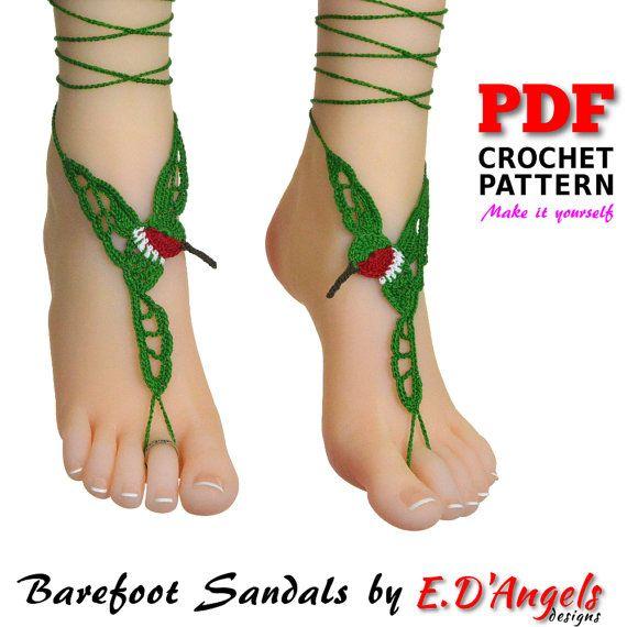 12 besten Barefoot sandals Bilder auf Pinterest | Häkeln barfuß ...