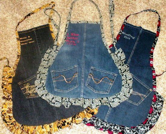 Faça um lindo avental com sobras de jeans! Confira o passo-a-passo.