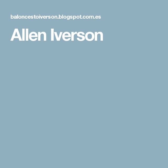 Denver Nuggets Quotes: 17 Best Ideas About Allen Iverson On Pinterest