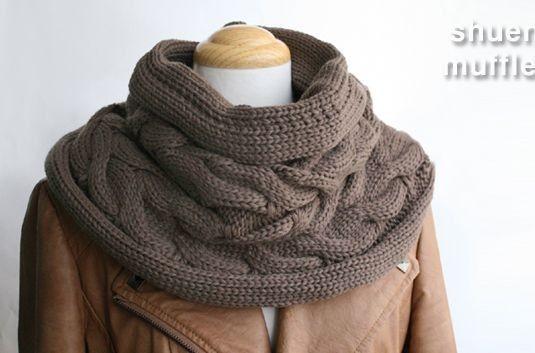 Вязанный шарф-воротник 16017 - Зимние аксессуары - Asia-Moda.com