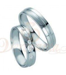 Βέρες γάμου από πλατίνα με διαμάντι Breuning 9088-9089