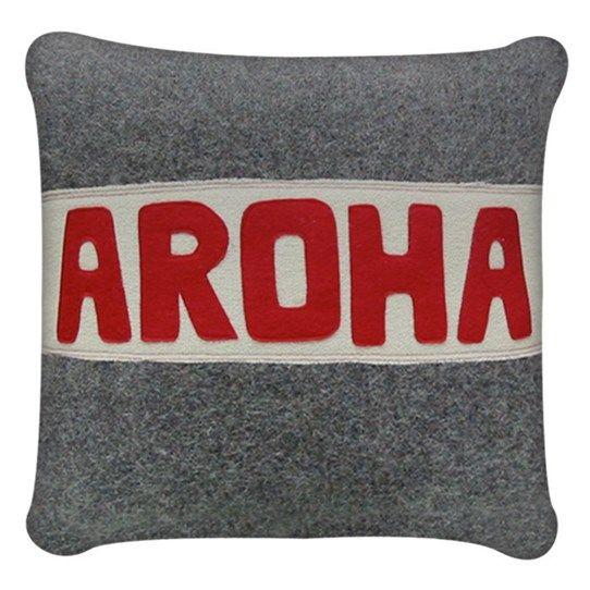 Aroha Cream Stripe Cushion | Vintage Love