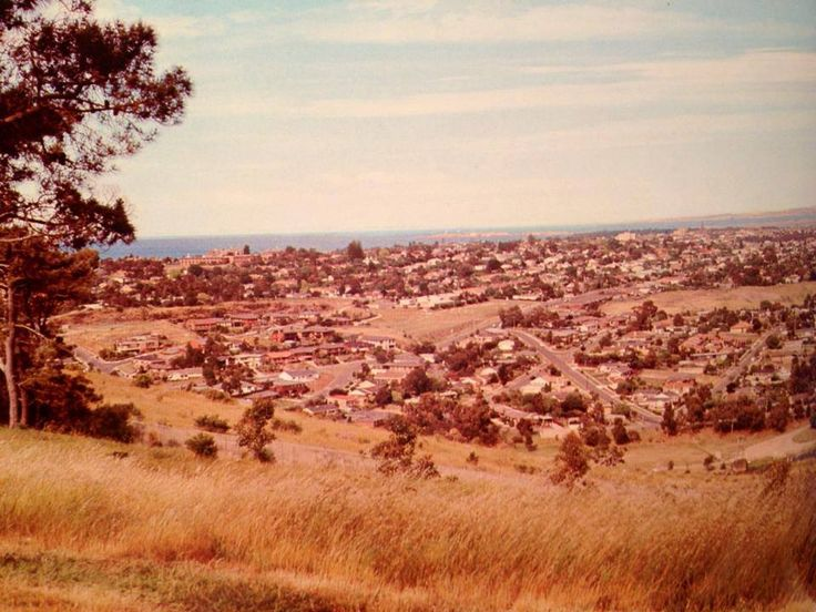 View across Geelong from Highton, 1970s'