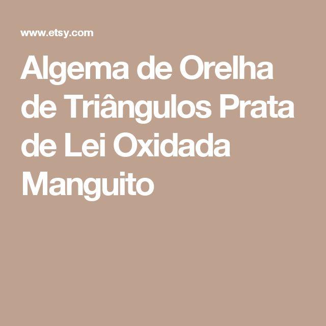 Algema de Orelha de Triângulos Prata de Lei Oxidada Manguito