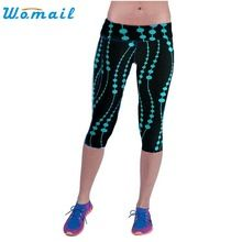 Durable 2016 Fashion women Leggings  High Waist Fitness Pants Sweatpants Printed Stretch plus size Cropped Leggings //Price: $US $6.18 & FREE Shipping //