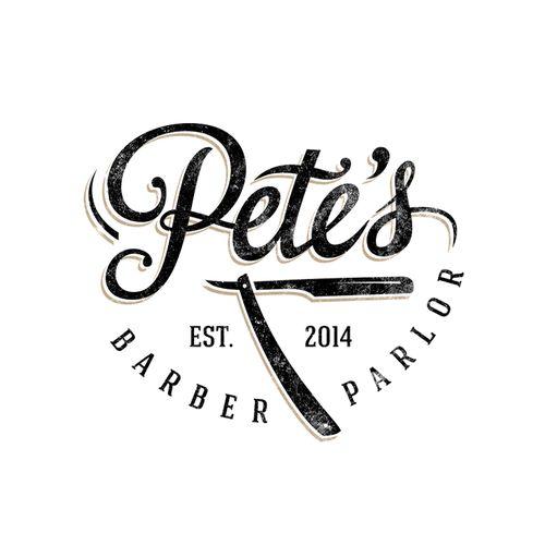 logo for a barber shop