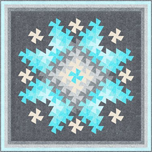 Twister Sparkler quilt pattern by Quilt Moments | Robert Kaufman Fabrics