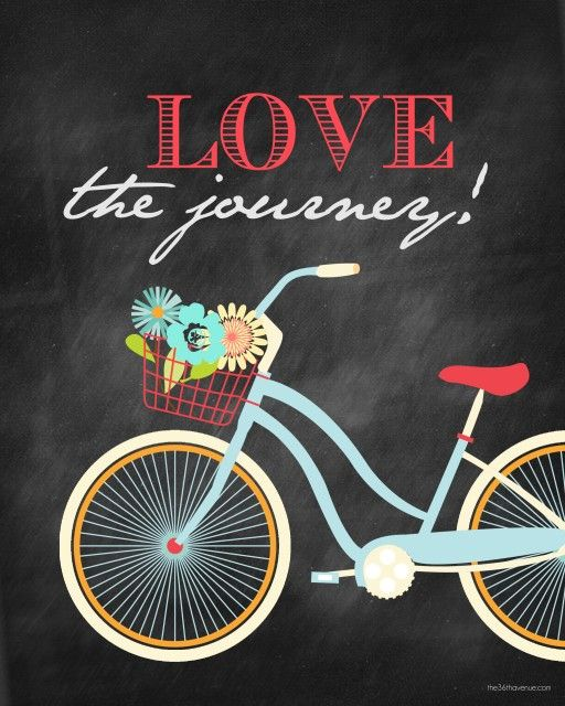 """Free Printables - Super cute """"Love the Journey"""" Printables. Four colors to choose from at the36thavenue.com"""