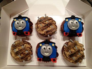 Thomas The Tank Themed Cupcakes