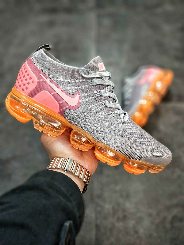 2018 Nike Air VaporMax 2.0 Mens Sneakers Gray Pink Orange 780003-852 ... 23d79d557