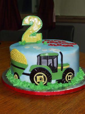 Cakes by Paula: John Deere Tractor Birthday Cake