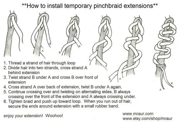 DIY Pinch Braid Dread Installation Kit Tutorial & Tools by mraur, $6.00