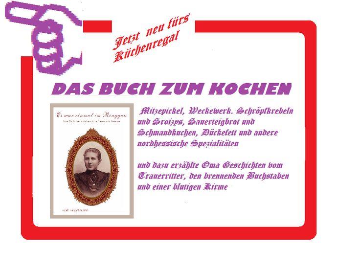 """Probelesen: www.groessenwahn-verlag.de  Wer von Euch weiss noch, was """"Schlachtekohl"""" ist und wie das im vorigen Jahrhundert gefeiert wurde....    wer es nicht weiss, findet es hier:    """"Es war einmal im Ringgau.."""" Oma Christines Rezepte und Sagen aus Nordhessen. ISBN: 978-3-942223-24-9 - Probelesen: www.groessenwahn-verlag.de"""
