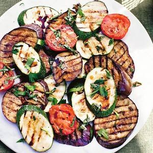 23 april - aubergines in de bonus - Recept - Gemengde gegrilde groenten - Allerhande
