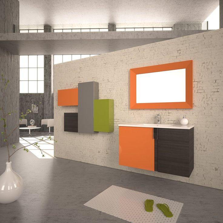 """AMAZON ULTRA"" BATHROOM FURNITURE,home,new,interior design,accesories,set,new,style,bath,tiles,product,idea,decoration,woman,mirror,porcelain,επιπλο μπανιου,μπανιο,νιπτηρας,καθρεπτης,πλακακια,idea,spa,architecture,decoration, BLACK,white , ,MODERN"
