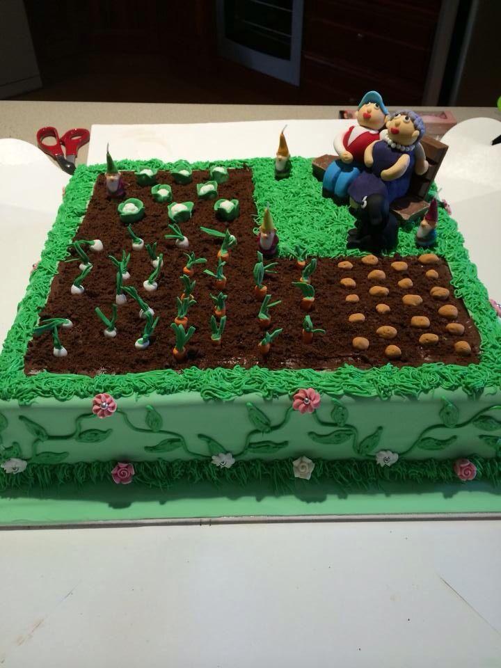 90th birthday garden cake