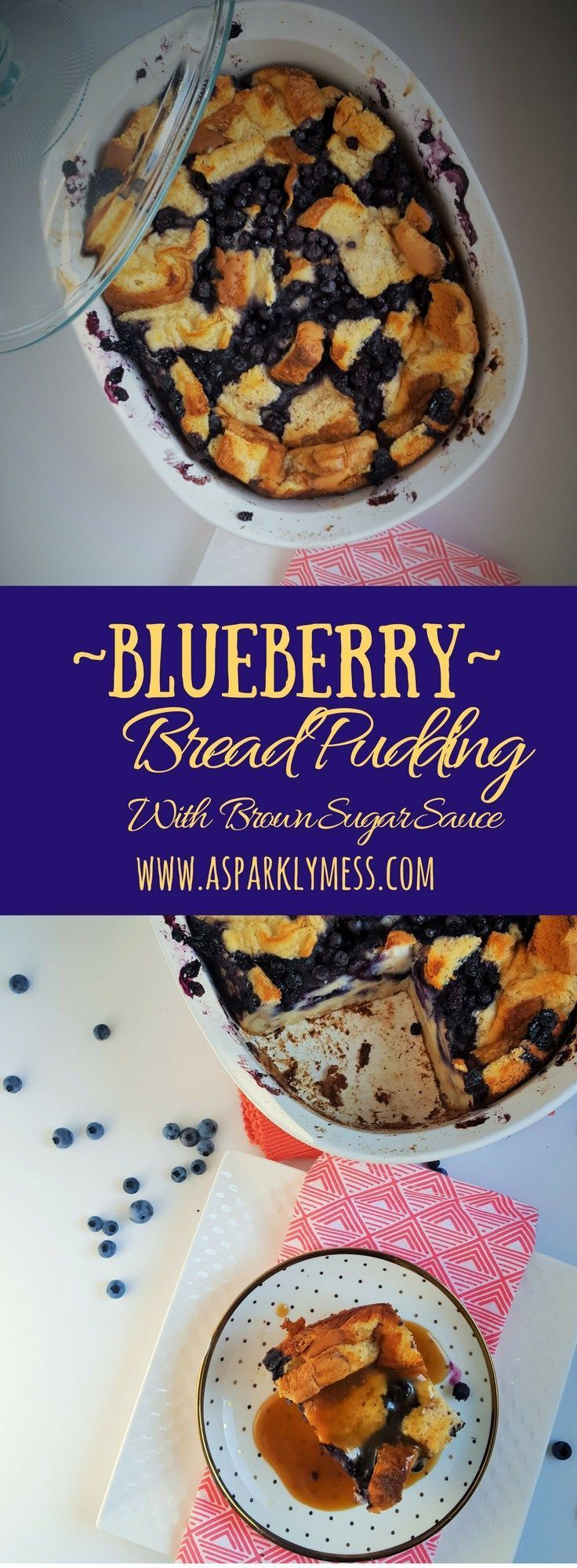 Easy Blueberry Bread Pudding with Brown Sugar Sauce. A decedent yet simple Blueberry Bread Pudding Perfect for any occasion and can be ready for the oven within minutes