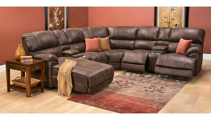 Homeland collection left chaise sectional pfkl483 - Slumberland living room furniture ...