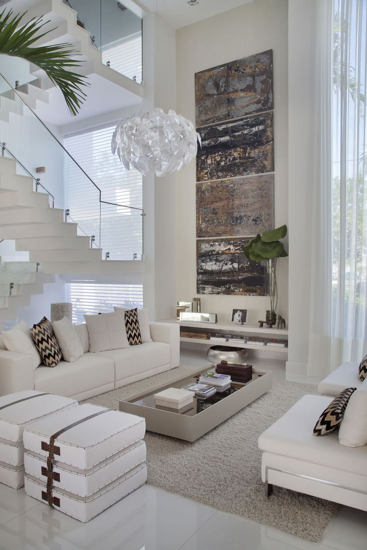 Living Room With High Ceilings Decorating