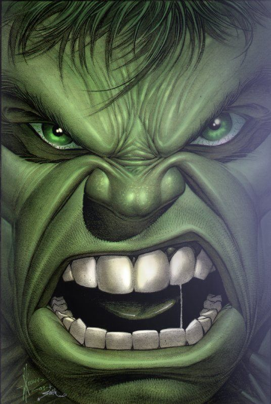 Yoram Matzkin's ..Dale Keown Hulk, in TOM SMITH 20 year veteran professional COLORIST !'s Artists...My work with Dale Keown Comic Art Gallery Room