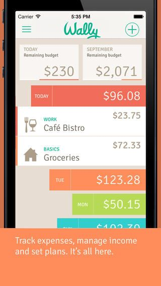 Smart Personal Finance App Wally Updated With New iOS 7 Design And New Features -- AppAdvice
