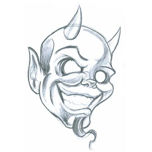 Devil Face Line Drawing : Devil smile tattoo pinterest clip art and