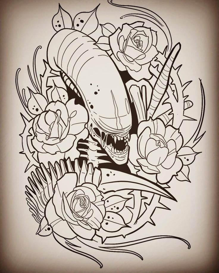 Another idea I dare you to get! #alientattoo #xenomorph #protontattoo