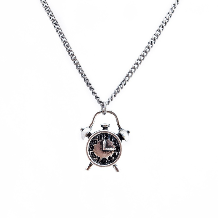 #Ladies #Out Of #Time #Alarm #Clock #Necklace