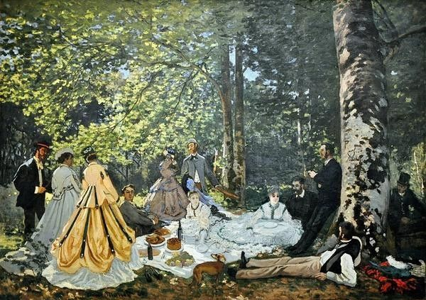 Claude Monet, Luncheon on the Grass, 1866, Pushkin Museum, Moscow