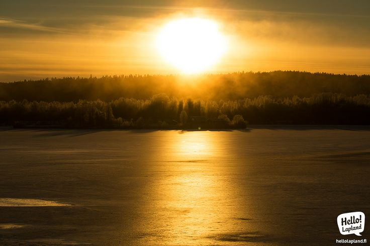 Frozen Rovaniemi in November. The sun doesn't get higher than this!