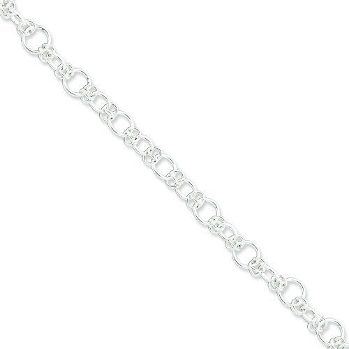 Sterling Silver Bracelet. Metal Weight- 6.92g. 7.5in long Bracelet. Jewelrypot. $36.99. Fabulous Promotions and Discounts!. Your item will be shipped the same or next weekday!. All Genuine Diamonds, Gemstones, Materials, and Precious Metals. 30 Day Money Back Guarantee. 100% Satisfaction Guarantee. Questions? Call 866-923-4446