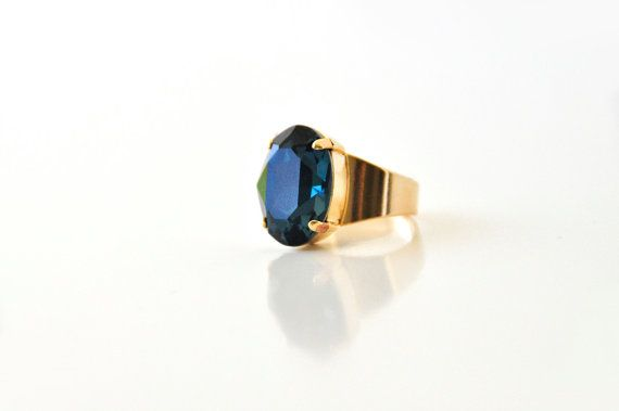 Hey, I found this really awesome Etsy listing at https://www.etsy.com/listing/200544418/new-blue-gemstone-adjustable-ring-oval