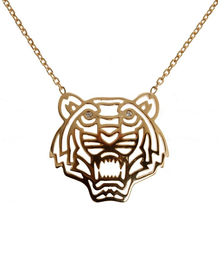 Gold-Plated Tiger Necklace, Kenzo Accessories. Shop more jewellery from the Kenzo Accessories collection online at Liberty.co.uk