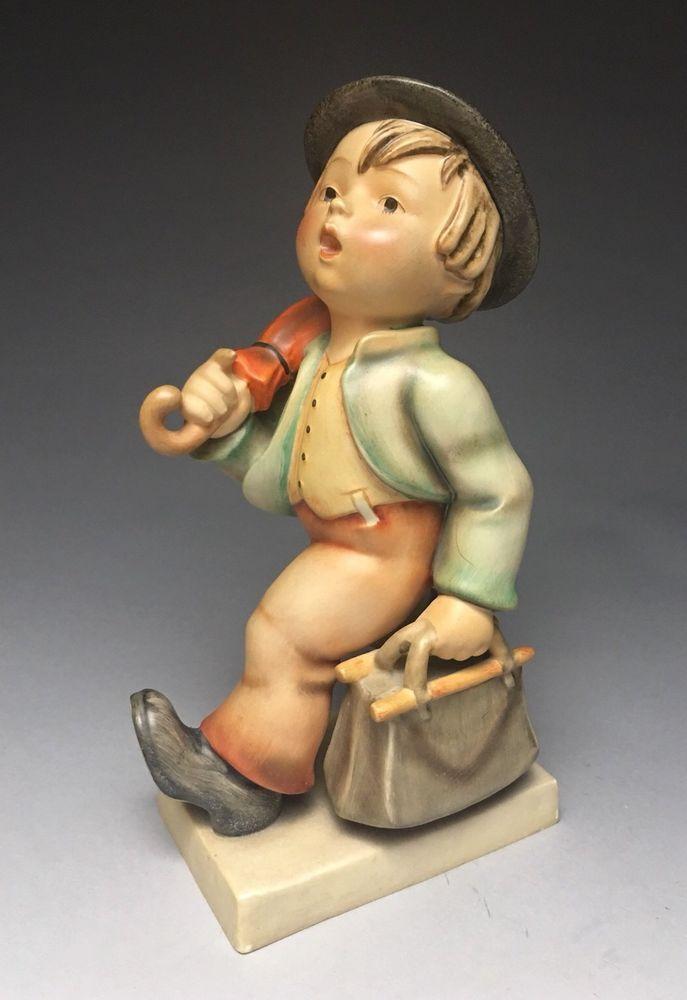 "Rare Hummel 7/2 10"" Merry Wanderer Figurine 1950-55    eBay"