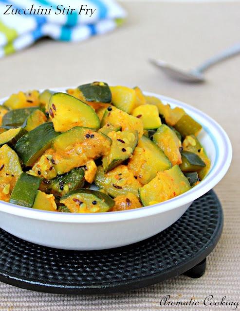 Curry Zucchini Stir Fry