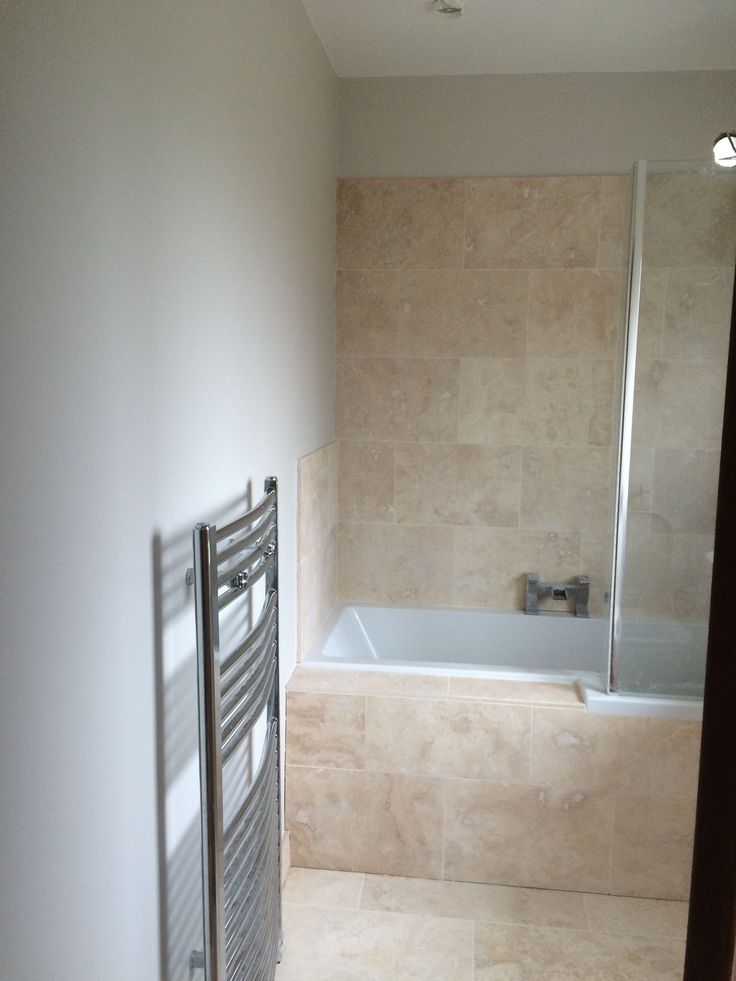 Image result for grey bathroom paint with travertine