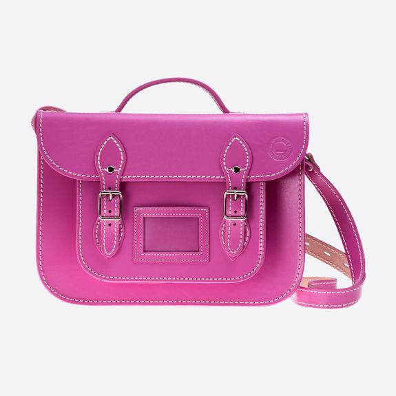 Old School Satchel - 13 Inch Satchel – Dark Pink