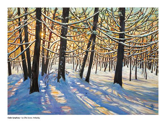 2015 Landscape Calendar | The Art Map Cedar Symphony by Ofra Svorai - January