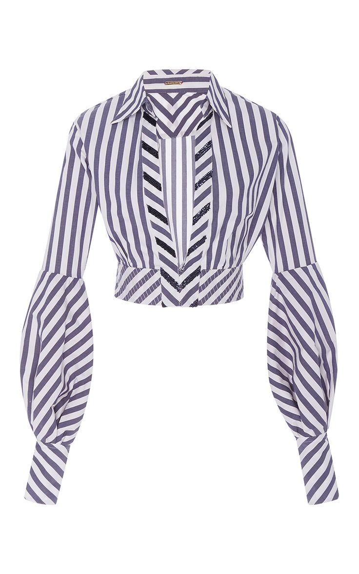 Lover Cropped Poplin Top by JOHANNA ORTIZ for Preorder on Moda Operandi