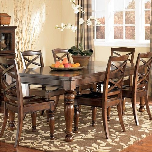 Exceptional Room Table U003e Ashley Furniture Porter House Rectangular Extension