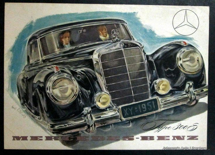 Mercedes benz 1953 300 s sales brochure poster mercedes for Mercedes benz poster