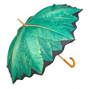 Paraplu met print van bananenbladeren Umbrella with banana leaves print