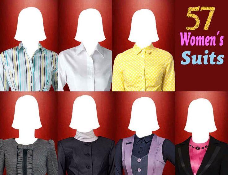 57 plantillas para hacer fotomontajes con trajes formales de mujeres | Marcos y Recursos