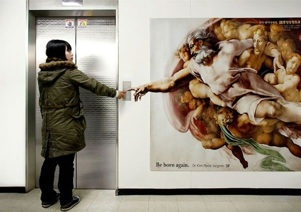 Plastic Surgeon's Ad Spoofs Michelangelo - Neatorama