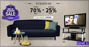 End of season sale on furniture upto 70% off + extra 25% off on snapdeal http://cashdealkart.com