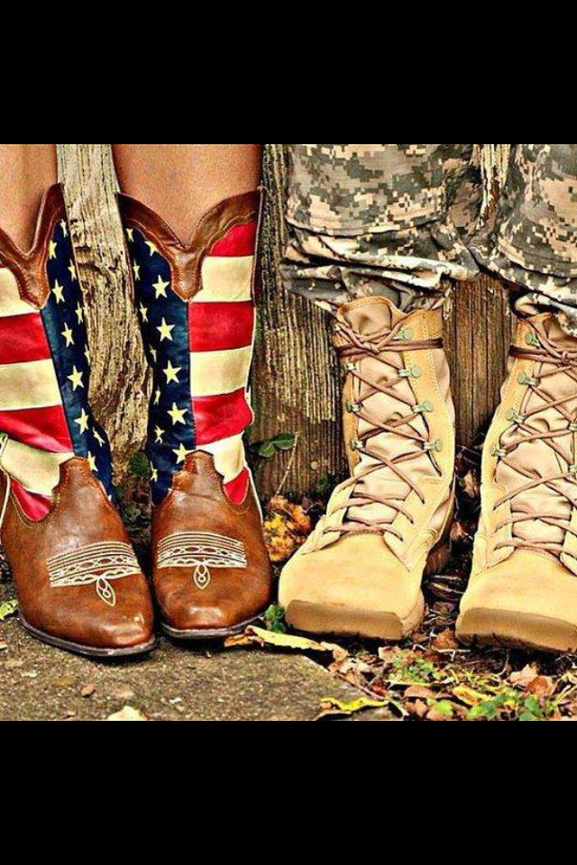 You In Patriotic Boots / Me In Combat Boots We Could Dance All Night.. :))