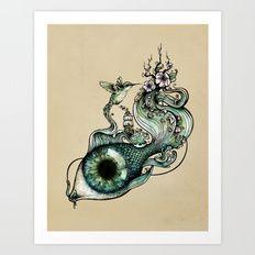 Art Print featuring Flowing Inspiration by Enkel Dika