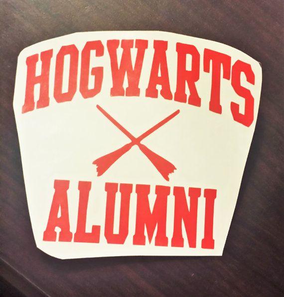 Harry Potter Hogwarts Alumni decal Hogwarts by KMaderCreations