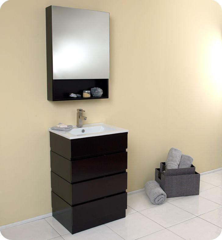 fresca amato espresso modern small bathroom vanity w medicine cabinet faucet - Bathroom Cabinets Johannesburg
