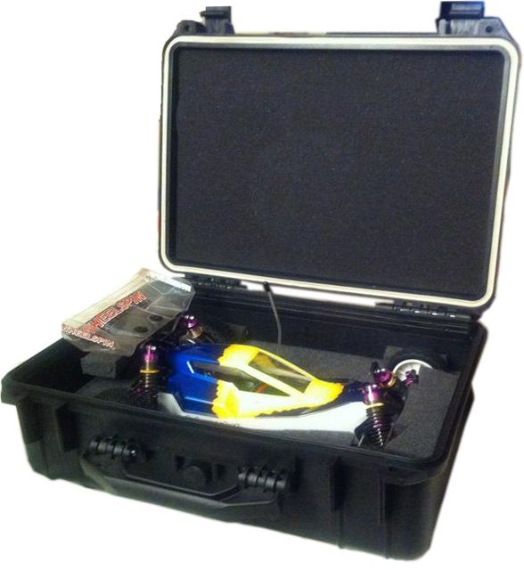 Flight case to hold and protect your remote controlled racing cars.